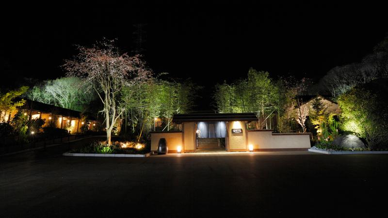 ネスタリゾート神戸のイルミネーション 「ネスタイルミナ」 のべはの湯入り口