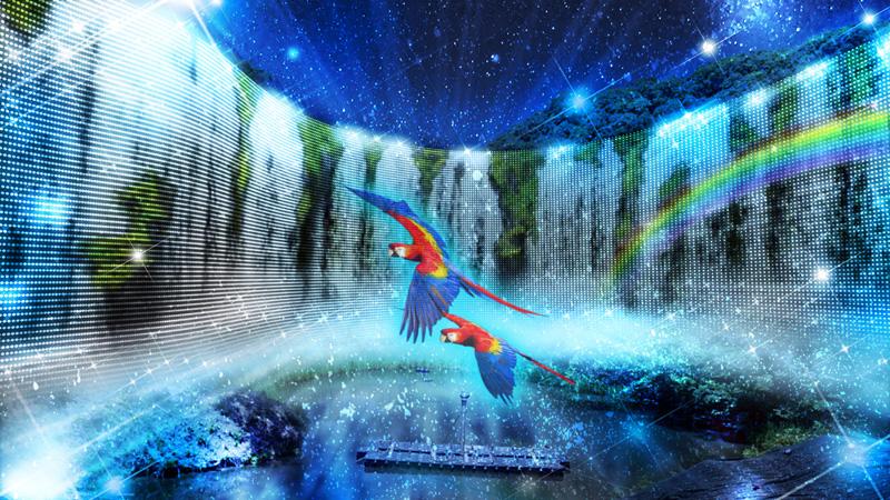 ネスタリゾート神戸のイルミネーション 「ネスタイルミナ」 イグアスの滝